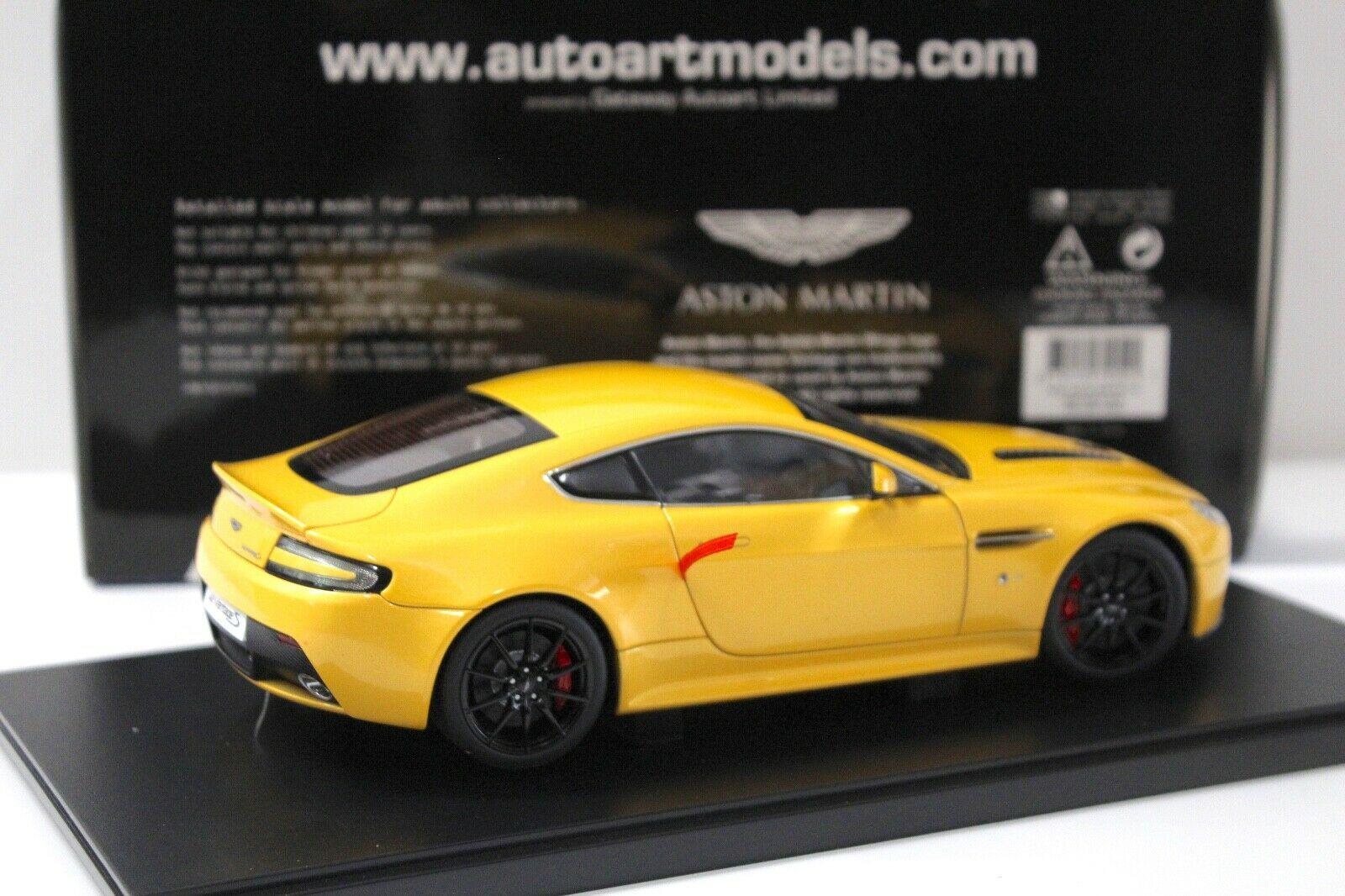 1 18 Autoart Aston Martin V12 Vantage S Yellow Ebay